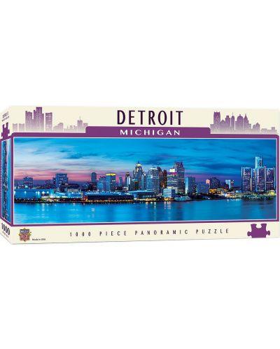 Панорамен пъзел Master Pieces от 1000 части - Детройт, Мичиган - 1