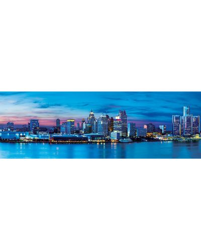 Панорамен пъзел Master Pieces от 1000 части - Детройт, Мичиган - 2