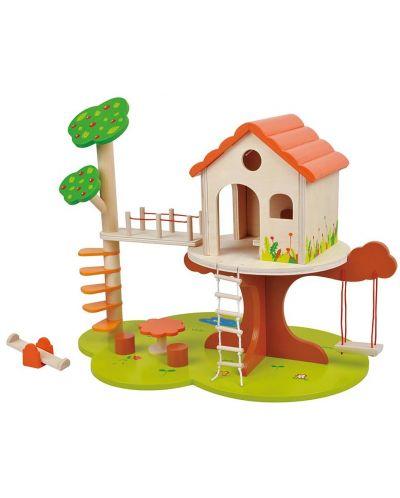 Игрален комплект Lelin - Къщичка на дърво - 1