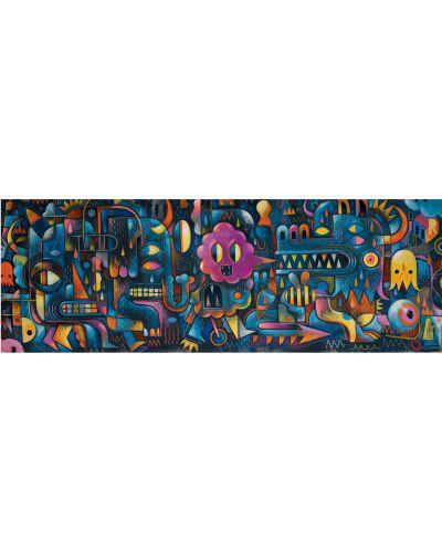 Панорамен пъзел Djeco от 500 части - Стена от чудовища - 1