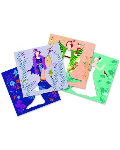 Детски комплект Направи сам от хартия Djeco – Разноцветни рокли - 2