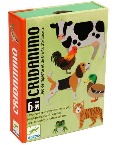 Детска игра с карти Djeco - Cridanimo - 1