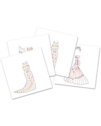 Детски комплект Направи сам от хартия Djeco – Разноцветни рокли - 3