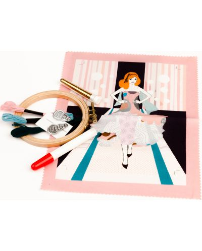 Детски комплект за бродиране Djeco - Седмица на модата - 2