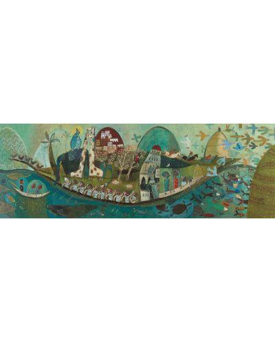 Панорамен пъзел Djeco от 350 части - Поетична лодка - 3
