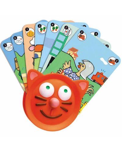 Ръкохватка за карти за игра Djeco - Котка - 1