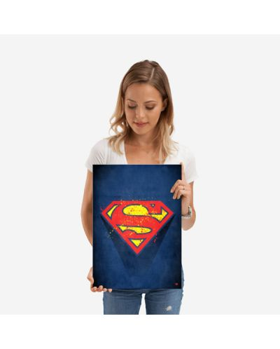 Метален постер Displate - Superman logo - 2