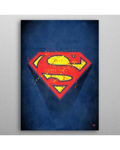 Метален постер Displate - Superman logo - 3