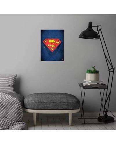 Метален постер Displate - Superman logo - 4