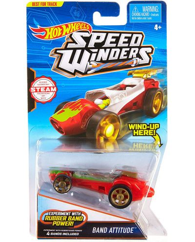 Количка Hot Wheels Speed Winders - Band Attitude - 1