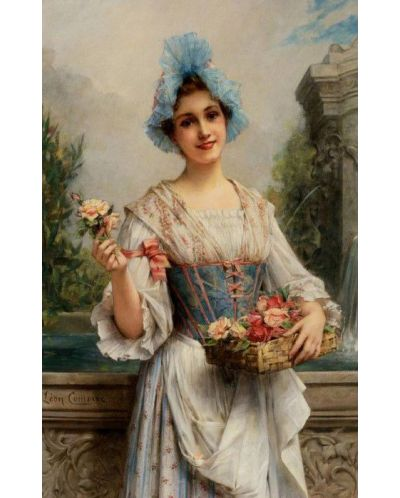 Пъзел D-Toys от 500 части - Продавачката на цветя, Леон Франсоа Комер - 2