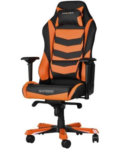 Геймърски стол DXRacer Iron - черен/оранжев (OH/IS166/NO) - 1