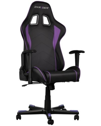 Геймърски стол DXRacer Formula - черен/лилав (OH/FE08/NV) - 4