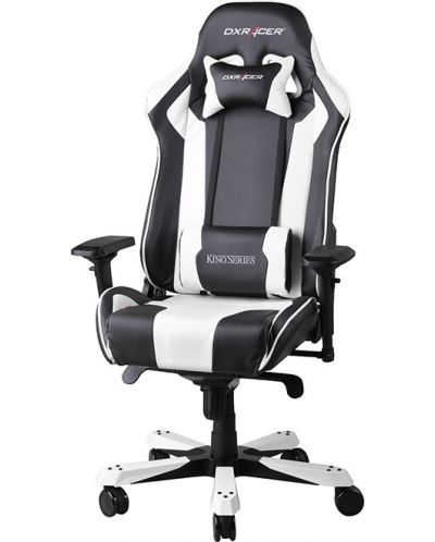 Геймърски стол DXRacer King - черен/бял (OH/KF06/NW) - 1