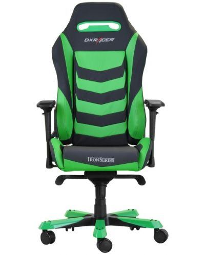 Геймърски стол DXRacer Iron - черен/зелен (OH/IS166/NE) - 3