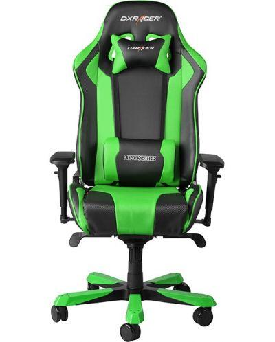 Геймърски стол DXRacer King - черен/зелен (OH/KF06/NE) - 4