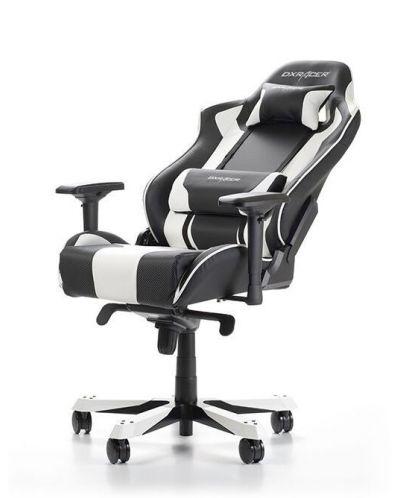 Геймърски стол DXRacer King, черен/бял - OH/KS06/NW - 4