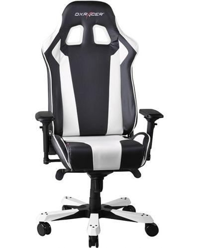Геймърски стол DXRacer King - черен/бял (OH/KF06/NW) - 7