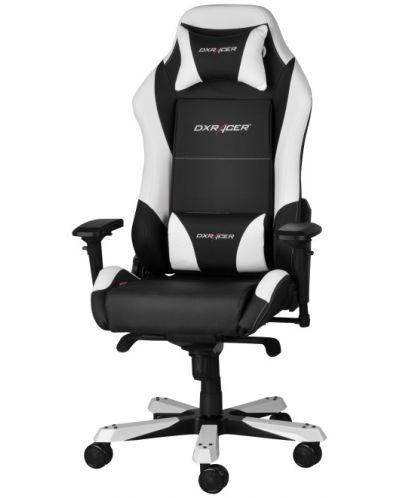 Геймърски стол DXRacer Iron - черен/бял (OH/IF11/NW) - 1