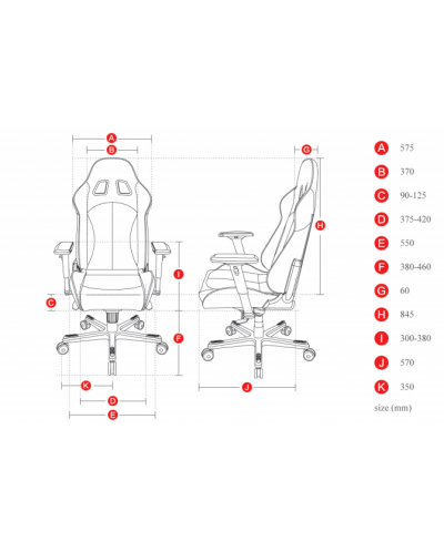 Геймърски стол DXRacer King - черен/бял (OH/KF57/NW) - 2