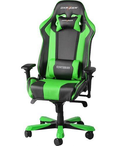Геймърски стол DXRacer King - черен/зелен (OH/KF06/NE) - 1
