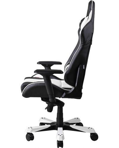 Геймърски стол DXRacer King - черен/бял (OH/KF06/NW) - 12