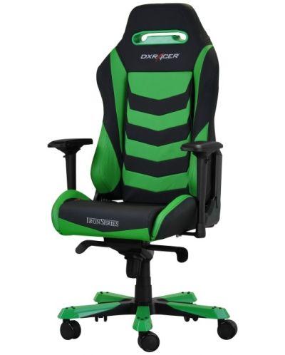Геймърски стол DXRacer Iron - черен/зелен (OH/IS166/NE) - 4