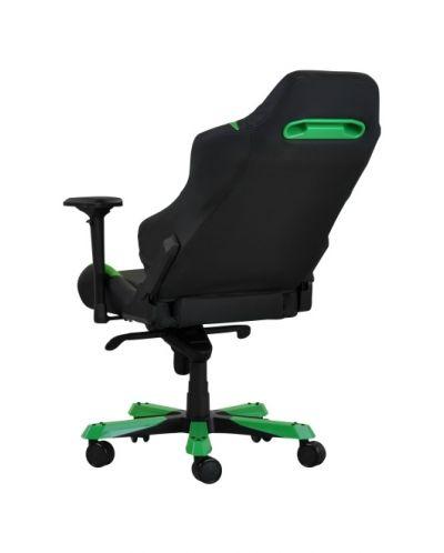 Геймърски стол DXRacer Iron - черен/зелен (OH/IS166/NE) - 8