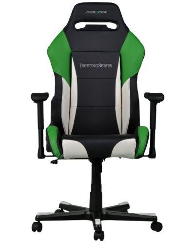 Геймърски стол DXRacer Drifting - черен/зелен/бял OH/DF61/NWE - 5