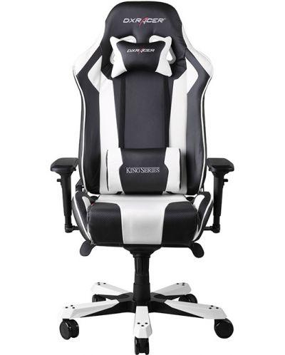 Геймърски стол DXRacer King - черен/бял (OH/KF06/NW) - 5