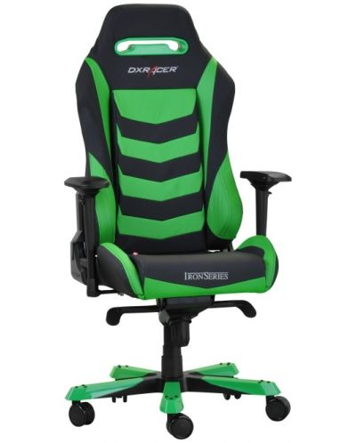 Геймърски стол DXRacer Iron - черен/зелен (OH/IS166/NE) - 2