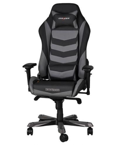 Геймърски стол DXRacer Iron - черен/сив (OH/IF166/NG) - 1