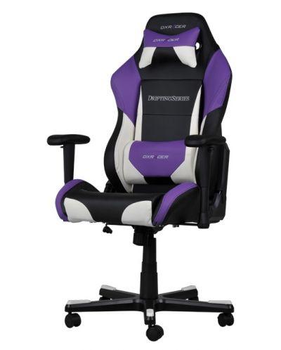 Геймърски стол DXRacer Drifting - черен/лилав/бял (OH/DF61/NWV) - 1