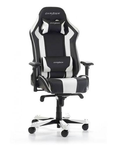 Геймърски стол DXRacer King, черен/бял - OH/KS06/NW - 7