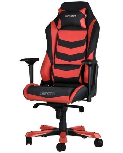 Геймърски стол DXRacer Iron - черен/червен (OH/IS166/NR) - 1