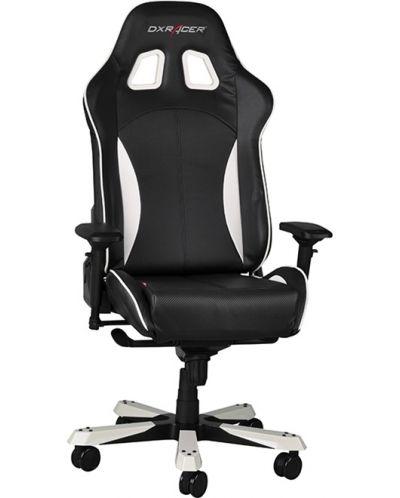 Геймърски стол DXRacer King - черен/бял (OH/KF57/NW) - 6