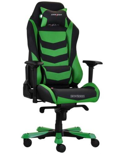 Геймърски стол DXRacer Iron - черен/зелен (OH/IS166/NE) - 5