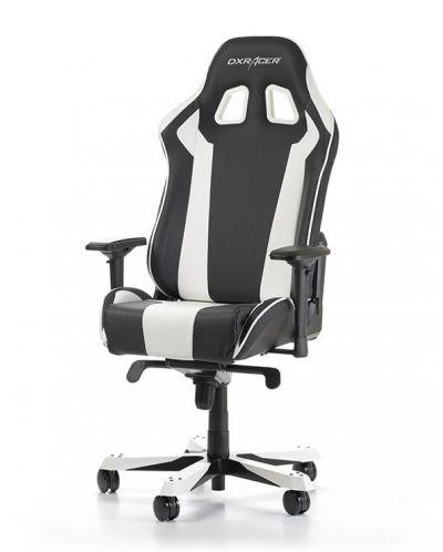 Геймърски стол DXRacer King, черен/бял - OH/KS06/NW - 10