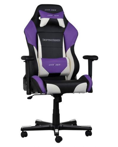 Геймърски стол DXRacer Drifting - черен/лилав/бял (OH/DF61/NWV) - 2