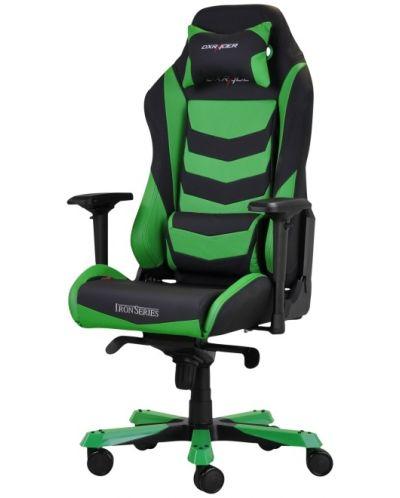 Геймърски стол DXRacer Iron - черен/зелен (OH/IS166/NE) - 1