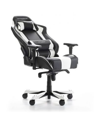 Геймърски стол DXRacer King, черен/бял - OH/KS06/NW - 6