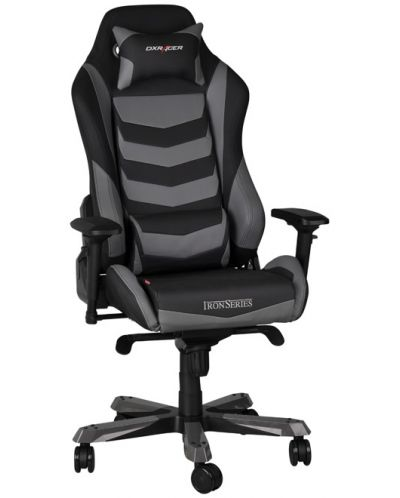 Геймърски стол DXRacer Iron - черен/сив (OH/IF166/NG) - 2