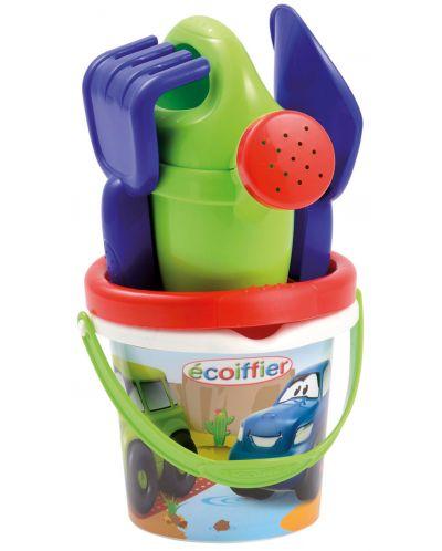 Комплект играчки за пясък Ecoiffier - Кофичка с инструменти - 1