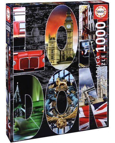 Пъзел Educa от 1000 части - Колаж на Лондон - 1