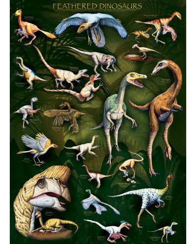 Пъзел Eurographics от 1000 части – Пернати динозаври - 2