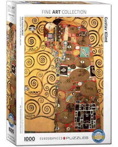 Пъзел Eurographics от 1000 части –  Изпълването, Густав Климт - 1