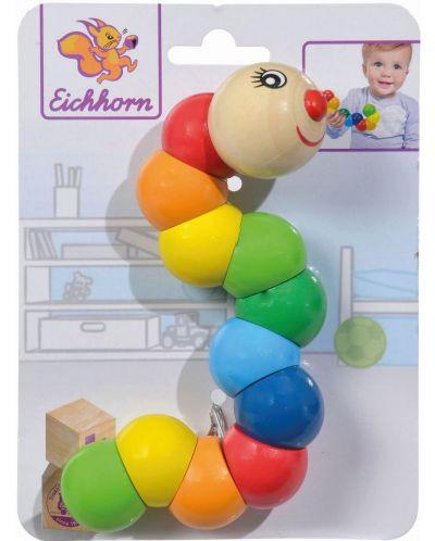 Дървена играчка Eichhorn - Гъсеница - 2
