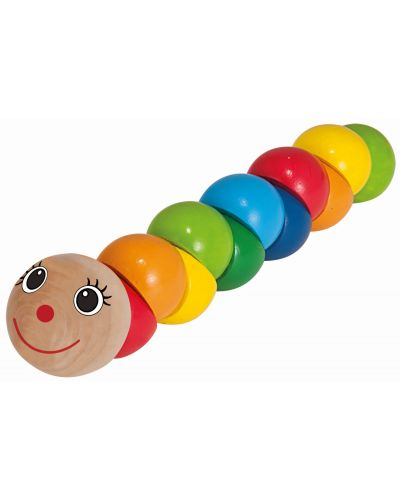 Дървена играчка Eichhorn - Гъсеница - 1