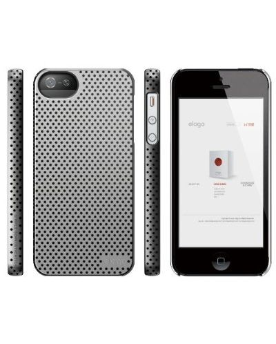 Калъф Elago S5 Breathe за iPhone 5, Iphone 5s -  сив - 5