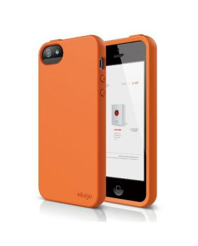 Калъф Elago S5 Flex за iPhone 5, Iphone 5s -  оранжев - 1